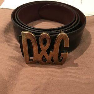 Dolce & Gabanna belt size 110/95 black gold buckle